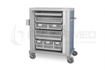 MULTIFUNCTIONS CART FOR ISO 600 X 400 MM TRAYS