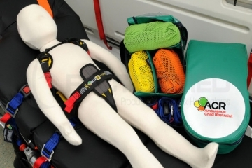 CHILD RESTRAINT SYSTEM FOR AMBULANCE STRETCHER